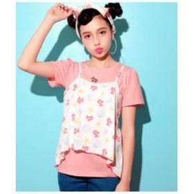 オリジナルシェル柄Tシャツ&キャミソールSET【お取り寄せ商品】