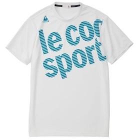 ルコック le coq sportif メンズ トレーニングウェア 半袖シャツ QMMNJA09 WHT ホワイト 【2019SS】