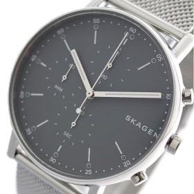 スカーゲン SKAGEN 腕時計 メンズ SKW6464 シグネチャー SIGNATUR クォーツ グレー シルバー グレー