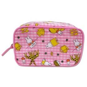 miffy<ミッフィー> 角型ポーチ(ギンガムチェック柄)ピンク
