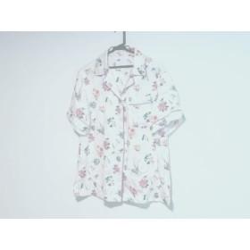 【中古】 カオン kaon 半袖シャツブラウス サイズS レディース 白 ピンク マルチ 花柄