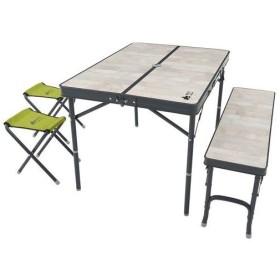 ロゴス LOGOS アウトドア テーブル+ベンチ+スツール ROSY ファミリーベンチテーブルセット 73189057