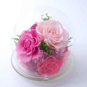 [ベル・フルール]ガラスドームL ピンク 10,000円-14,999円