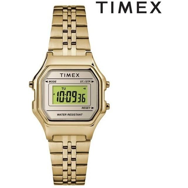 00325fe86b 時計 TIMEX タイメックス TW2T48400 クラシック デジタル ミニ ゴールド ブレス GG D9