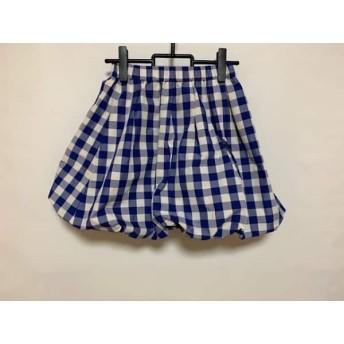 【中古】 フレイアイディー FRAY I.D ミニスカート サイズ0 XS レディース 白 ブルー チェック柄
