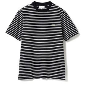 LACOSTE / ヘビーピケ ボーダーTシャツ レディース Tシャツ BLACK 3