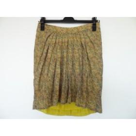 ドゥロワー Drawer スカート サイズ36 S レディース 美品 ベージュ×ピンク×マルチ 花柄【中古】