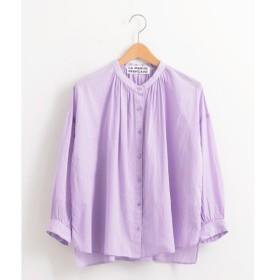 NIMES / ニーム オーガニックボイル スタンドカラーシャツ