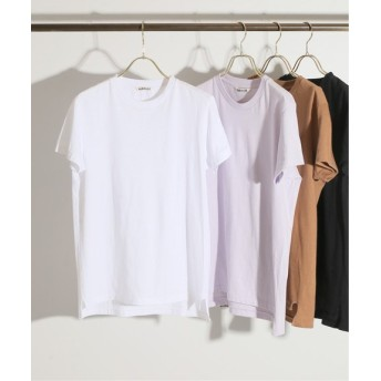 IENA AURALEE SEAMLESS クルーネックTシャツ◆ ホワイト フリー