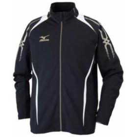 ウォームアップシャツ(09ブラック×ホワイト)【MIZUNO】ミズノトレーニングウエア ミズノクロスティック ウォームアップスーツ(32jc60100
