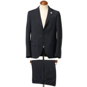 LARDINI / 別注 EASY WEAR ミニハウンドトゥース 3ボタンスーツ メンズ スーツ NAVY/6866 48
