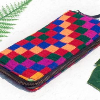 母の日バレンタインの日ギフト新年の贈り物国の風の森クリスマスプレゼント手刺繍の財布手縫いのサリーの布の財布シルク刺繍ロングクリッ