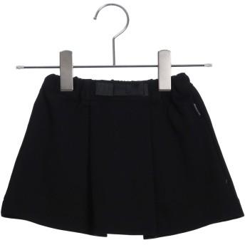 コムサイズム COMME CA ISM ポンチウエストリボン付スカート (ブラック)