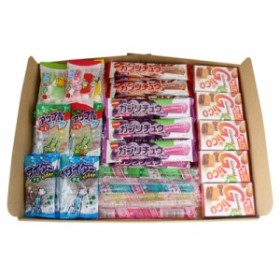 (メール便で送料無料) グミ・ラムネ・チューイングキャンディ・グリコキャラメル・駄菓子食べ比べセット(7種・計35コ) メール
