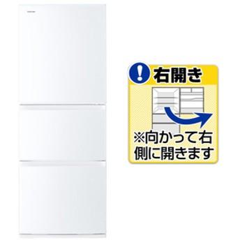 東芝【右開き】330L 3ドアノンフロン冷蔵庫VEGETAグレインホワイトGRR33SWT
