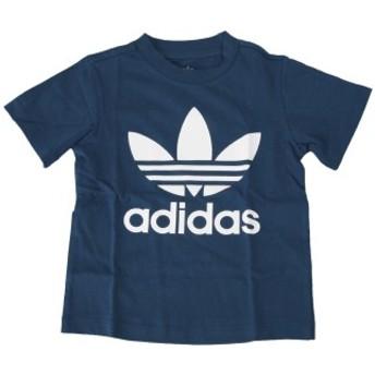 キッズ 【ADIDAS ウェア】 アディダスウェア Tシャツ K TREFOIL TEE トレフォイル Tシャツ DV2830 MARN/WHT 90