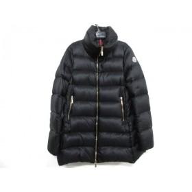 【中古】 モンクレール ダウンコート サイズ0 XS レディース TORCYN(トルシン) - 黒 冬物/ジップアップ
