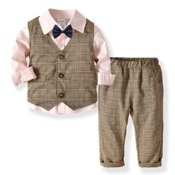 韓国子供服 キッズ子供スーツ 男児タキシード 4点セット  3色選べる  お祝い男の子 子供服 フォーマル 結婚式 七五三子供服 タキシード