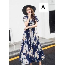 お呼ばれ ワンピース ドレス レディース マキシ 8タイプ エレガント 花柄 リゾート ロング丈 着痩 大きいサイズ 二次会