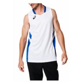 ゲームシャツ(ブリリアントホワイト×アシックスブルー)【ASICS】アシックス(2061A002)