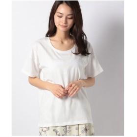 DAISY MERRY フロッキーロゴ半袖Tシャツ(オフホワイト)【返品不可商品】