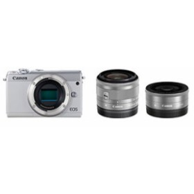 Canon EOS M100 ダブルレンズキット [ホワイト]【お取り寄せ(10日~2週間半程度)での入荷、発送】
