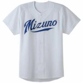ユニフォームシャツ/オープンタイプ(メッシュ)(05グレー)【MIZUNO】ミズノ野球 ウエア ユニフォームシャツ(52MW17605)