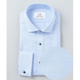 【オンワード】 CK CALVIN KLEIN MEN(CK カルバン・クライン メン) 【ビジネス】ハイツイストコットンリネン ドレスシャツ スカイブルー XL メンズ 【送料無料】