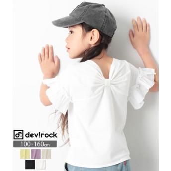 devirock デビロック バックリボン 半袖 Tシャツ