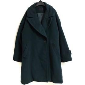 【中古】 ムルーア MURUA コート サイズ2 M レディース ダークグリーン 冬物