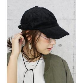 レカ コーデュロイキャップ レディース ブラック FREE 【reca】