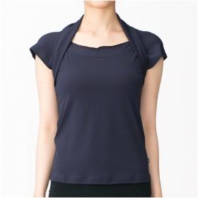 【オンワード】 Chacott(チャコット) レイヤード風Tシャツ ネイビー S レディース