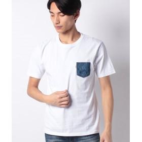 【33%OFF】 マルカワ エドウィン デニムポケット 半袖Tシャツ メンズ ホワイト L 【MARUKAWA】 【タイムセール開催中】