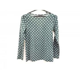 【中古】 マリメッコ marimekko 長袖Tシャツ サイズXS レディース グリーン パープル ドット柄