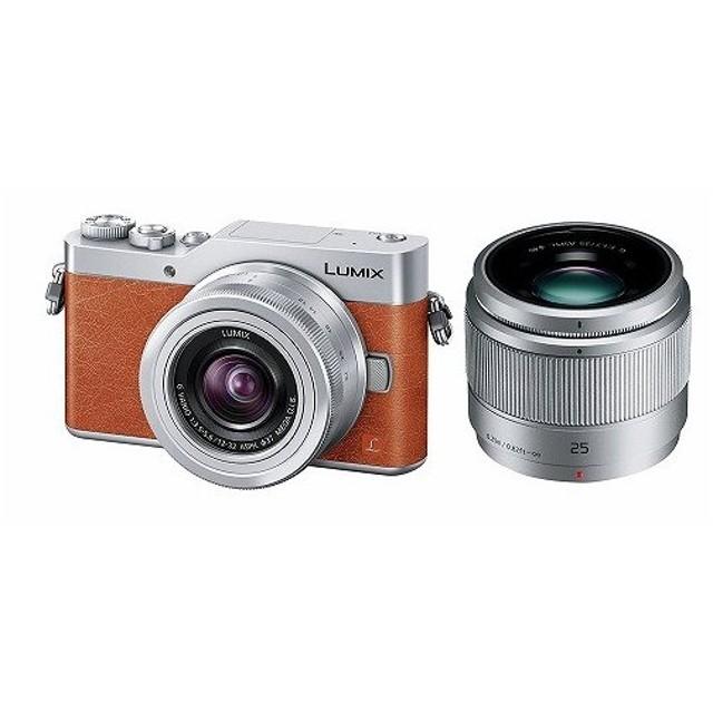 新品 DC-GF9W-D Panasonic ミラーレス一眼 カメラ ルミックス ダブルズームレンズキット標準ズームレンズ単焦点レンズ付属 オレンジ