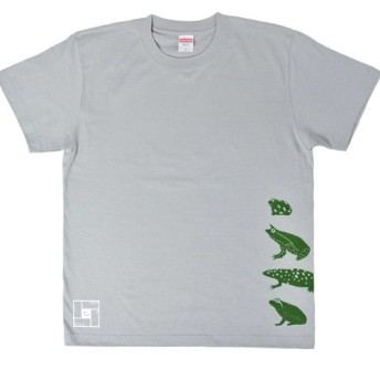 地球のカエルTシャツ メンズ