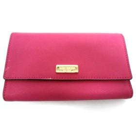 【中古】 ケイトスペード Kate spade 3つ折り財布 WLRU2348 ピンク レザー