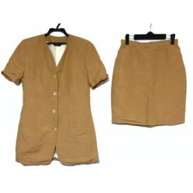 【中古】 ポールスチュアート PaulStuart スカートスーツ レディース オレンジ 肩パッド