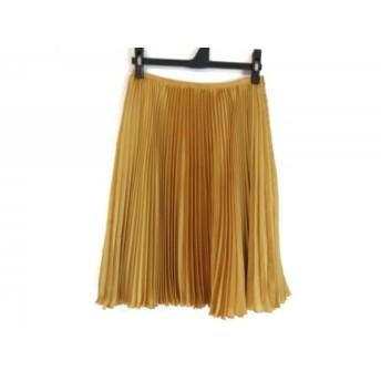 【中古】 エポカ EPOCA スカート サイズ38 M レディース 美品 イエロー プリーツ