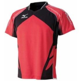 ゲームシャツ(2014年日本代表モデル)(62レッド)【MIZUNO】ミズノ卓球 ウエア(82JA400162)