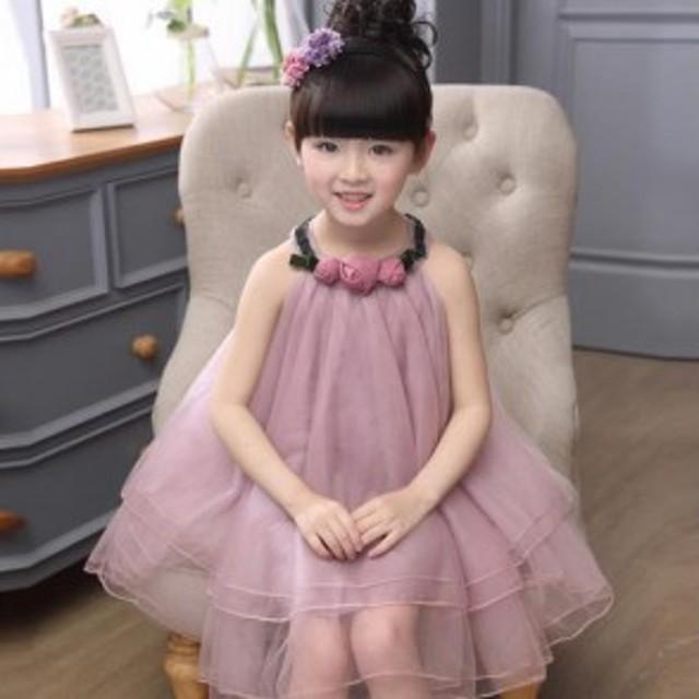 d1c34902b6fc5 110-150子供ドレス フォーマル ドレス 演出 お姫様 お嫁さん フラワーガール ドレス ジュニア ワンピース