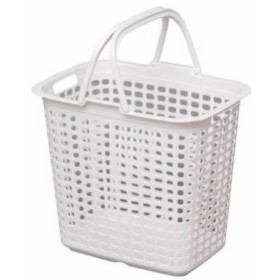 IRIS ランドリーバスケット ピュアホワイト  LB-L-PWH