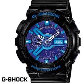 CASIO G-SHOCK ジーショック メンズ 腕時計 GA-110HC-1AJF ブラック ブルー HyperColos ハイパーカラーズ