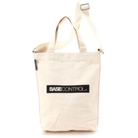 BASECONTROL ベースコントロール 2way ロゴプリント トートバッグ 小