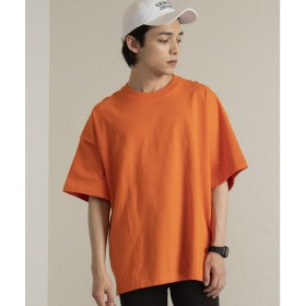 WEGO WEGO/ヘビースラブビッグTシャツ(オレンジ)【返品不可商品】