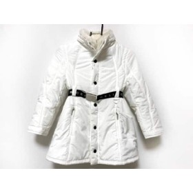 【中古】 セリーヌ CELINE コート サイズ120 レディース 白 子供服/冬物/ラビットファー