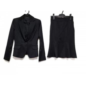 【中古】 マテリア MATERIA スカートスーツ サイズ36 S レディース 黒