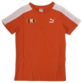キッズ 【PUMA ウェア】 プーマ ウェア セサミ SS Tシャツ B 854476 87CHERRYTOMATO 140