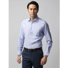 【THE SUIT COMPANY:トップス】【ETONNE】製品洗い カラミ織りホリゾンタルカラーシャツ