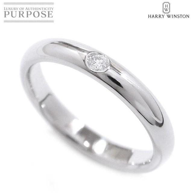 ハリー ウィンストン ラウンド ダイヤ 1P リング 12号 PT950 HARRY WINSTON プラチナ HW 指輪